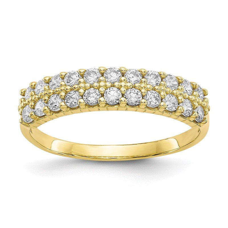 Quality Gold 10k Fancy CZ Ring