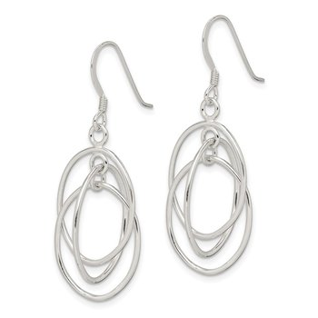 Sterling Silver Dangle Shepherd Hook Earrings