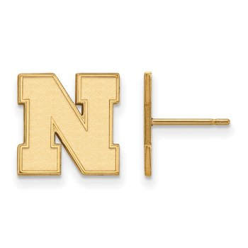 Gold-Plated Sterling Silver University of Nebraska NCAA Earrings