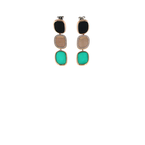 Roberto Coin 18Kt Gold Earrings With Black Jade, Diamonds And Green Agate
