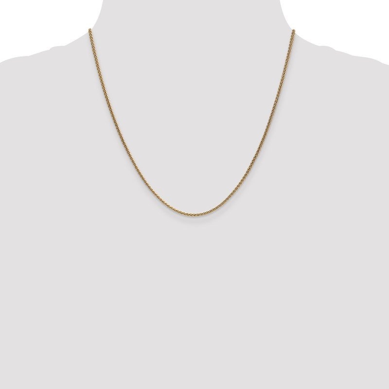 Leslie's Leslie's 14K 1.65mm Spiga (Wheat) Chain