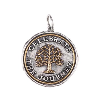 Celebrate the Journey Medallion - Sterling Silver & Brass