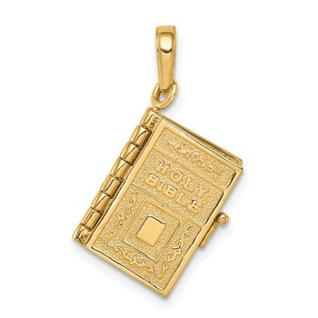 14K 3D Lord's Prayer Bible Pendant