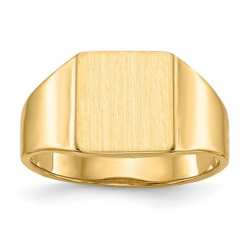 14k 9.0x8.5mm Open Back Signet Ring