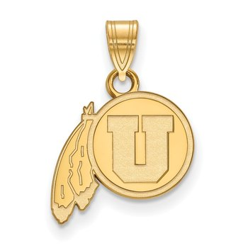 Gold-Plated Sterling Silver University of Utah NCAA Pendant