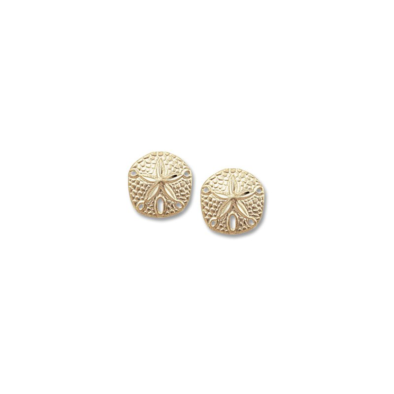 Carla 14kt Yel Sanddollar Post Earrings