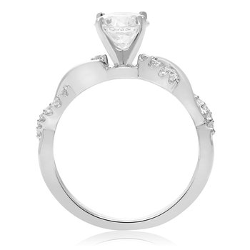 White Gold Overlapping Engagement Setting