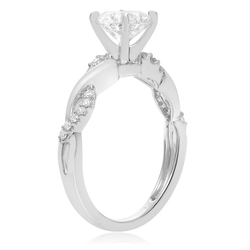 Roman & Jules White Gold Overlapping Engagement Setting