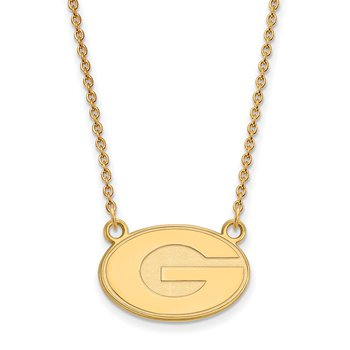 Gold-Plated Sterling Silver University of Georgia NCAA Necklace