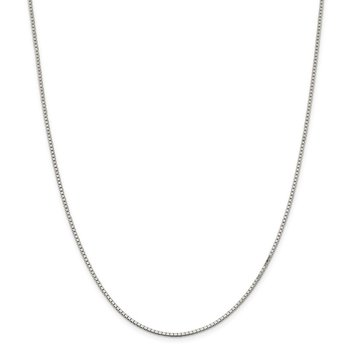 Sterling Silver Rhodium-plated 1.5mm Box Chain