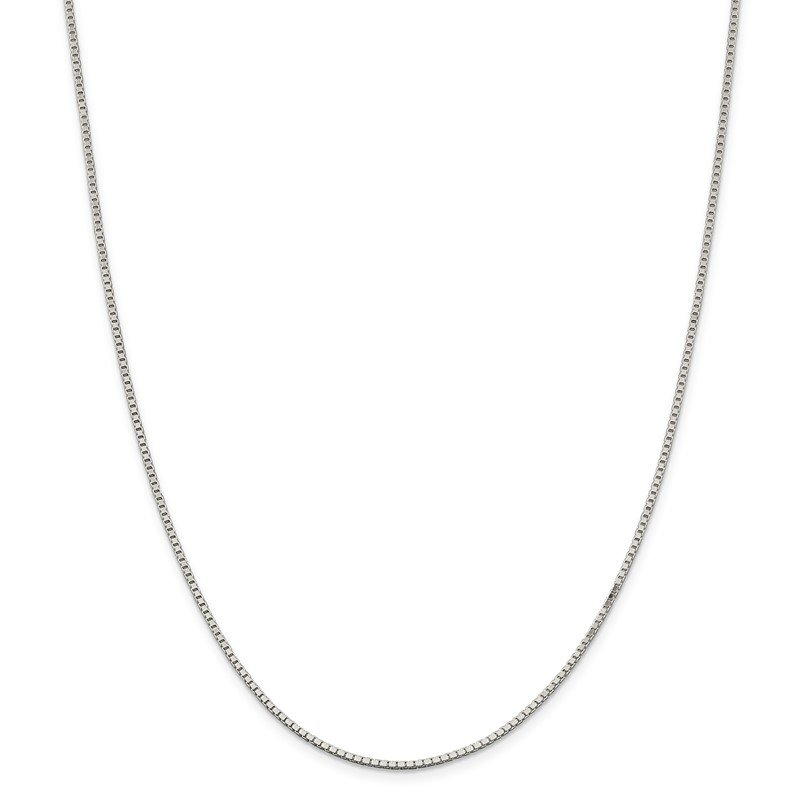 J.F. Kruse Signature Collection Sterling Silver Rhodium-plated 1.5mm Box Chain