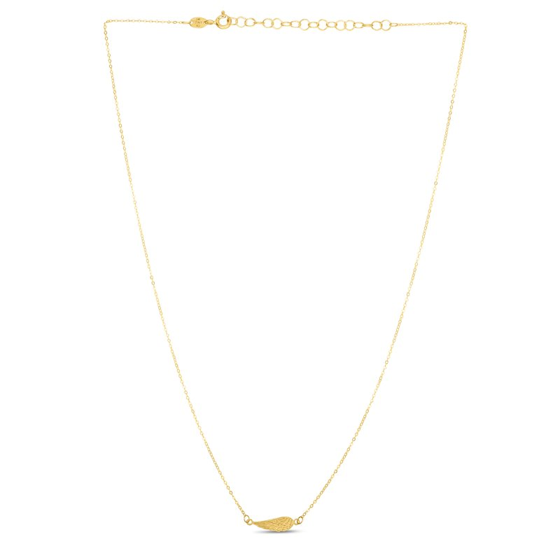 Royal Chain 14K Gold Angel Wing Necklace