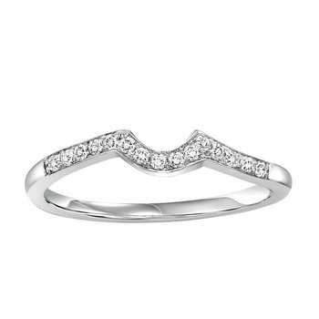 14K Diamond Two Stone Ring 1/5 ctw