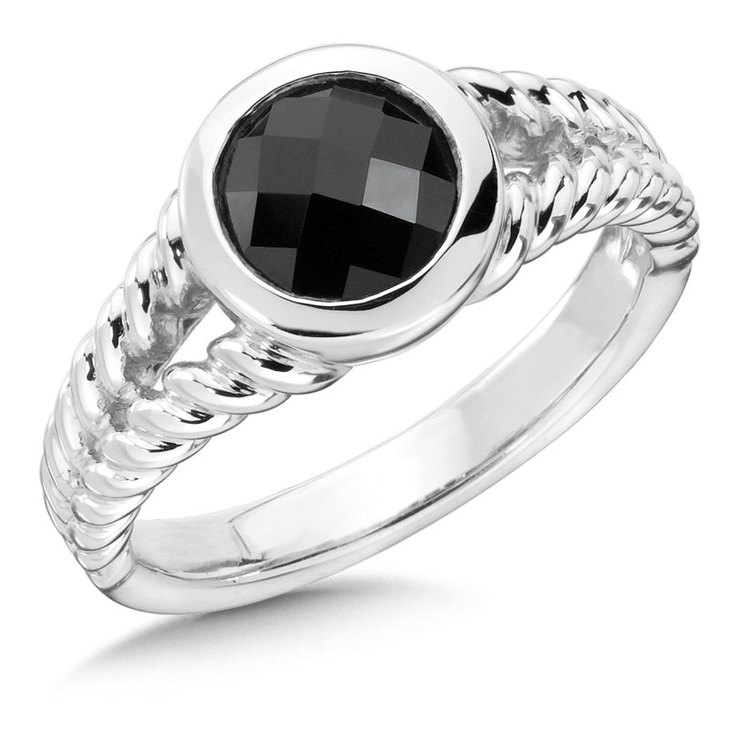 Colore Sg Sterling Silver & Onyx Ring