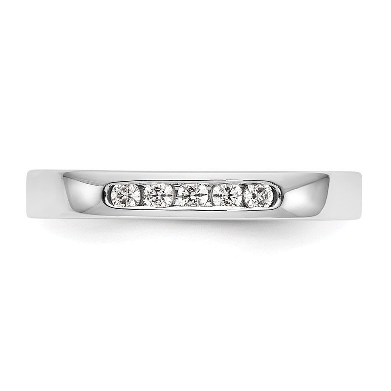 True Origin 14kw True Origin Lab Grown Diamond VS/SI, D E F, 5-Stone Channel Band