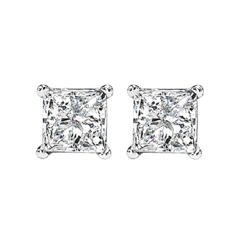 Gemsone 14K P/Cut Diamond Studs 1 ctw P2