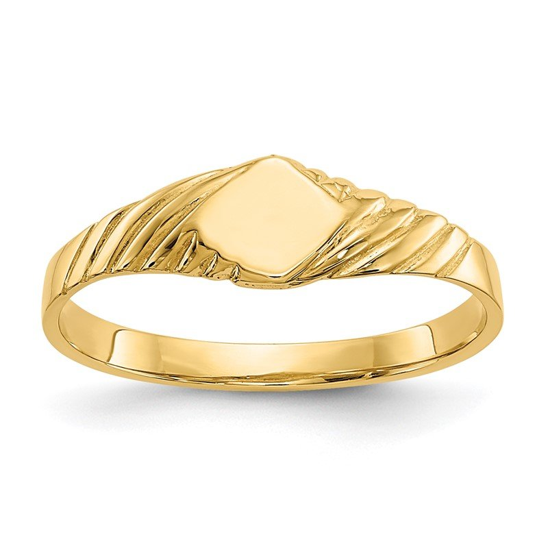 Quality Gold 14k Child's Fancy Signet Ring