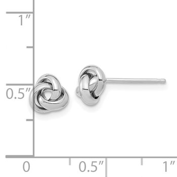 14k White Gold Polished Knot Post Earrings