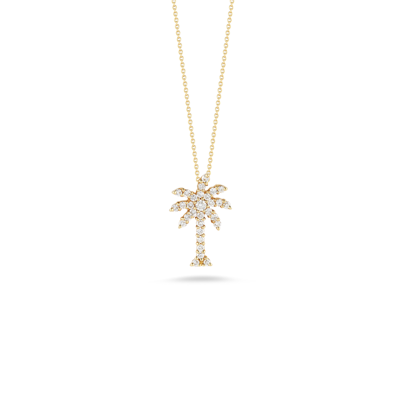Roberto Coin  #23046 Of 18Kt Gold Large Palm Tree Pendant With Diamonds