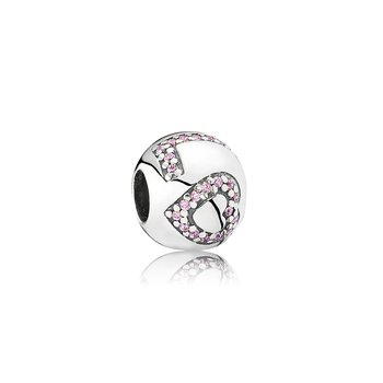 Surrounded By Love Charm, Pink CZ