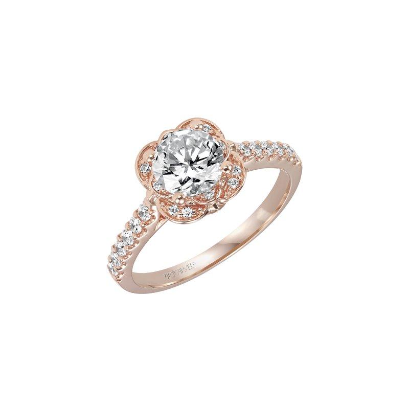 00b2130495f London Gold  ArtCarved Halo Diamond Engagement Semi