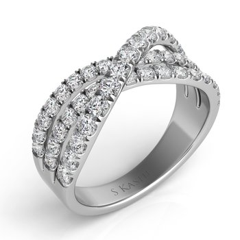 Palladium Diamond Fashion Ring