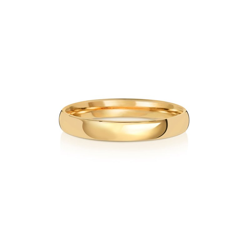Treasure 9Ct Yellow Gold 3mm Slight Court Wedding Ring