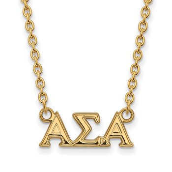 Gold-Plated Sterling Silver Alpha Sigma Alpha Greek Life Necklace
