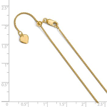 Leslie's Sterling Silver 1 mm Gold-plated Adjustable Spiga Chain