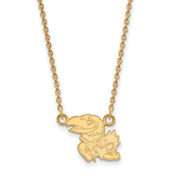 Gold University of Kansas NCAA Necklace