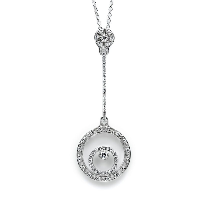Tacori Double Circle Pendant Necklace
