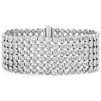 32.3 ctw. HOF 6 Row Bezel Diamond Bracelet