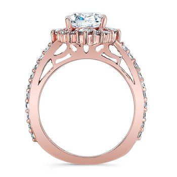 Rose Gold Cushion Cut Ring