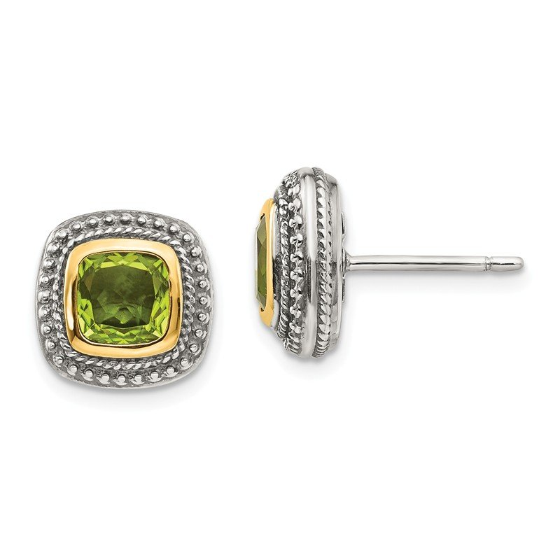 Shey Couture Sterling Silver w/14k Peridot Earrings
