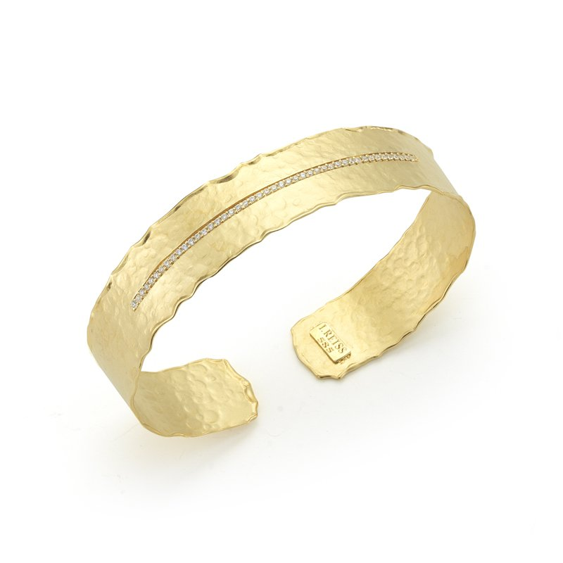 I. Reiss 14K-Y NARROW CUFF BR., 0.30CT