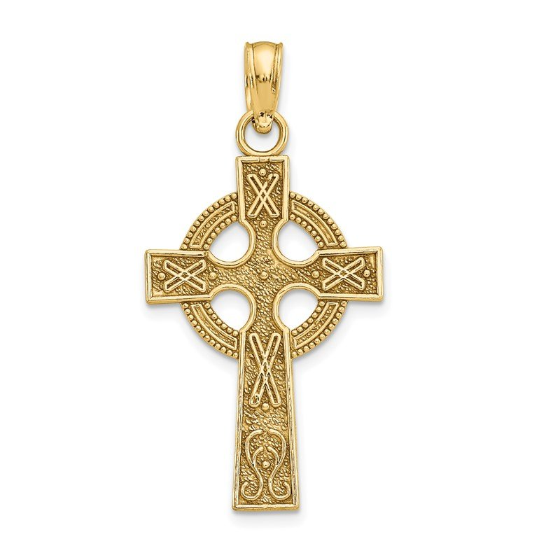Quality Gold 14k Celtic Cross Pendant