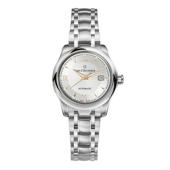Manero AutoDate 30mm Stainless Womens Watch