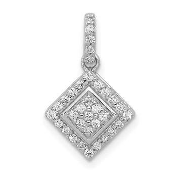 14k White Gold 1/4ct. Diamond Cluster Pendant