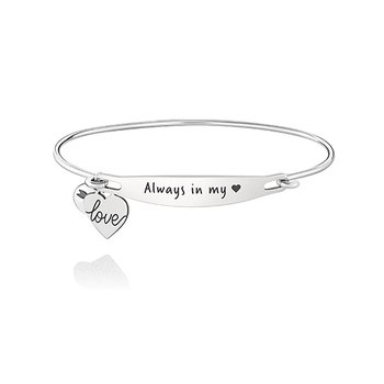 Always In My Heart ID Bangle