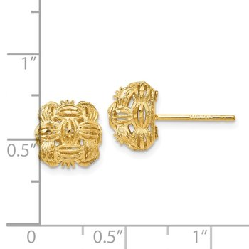 Leslie's 14k D/C Basketweave Post Earrings