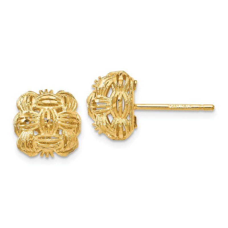 Leslie's Leslie's 14K D/C Basketweave Post Earrings