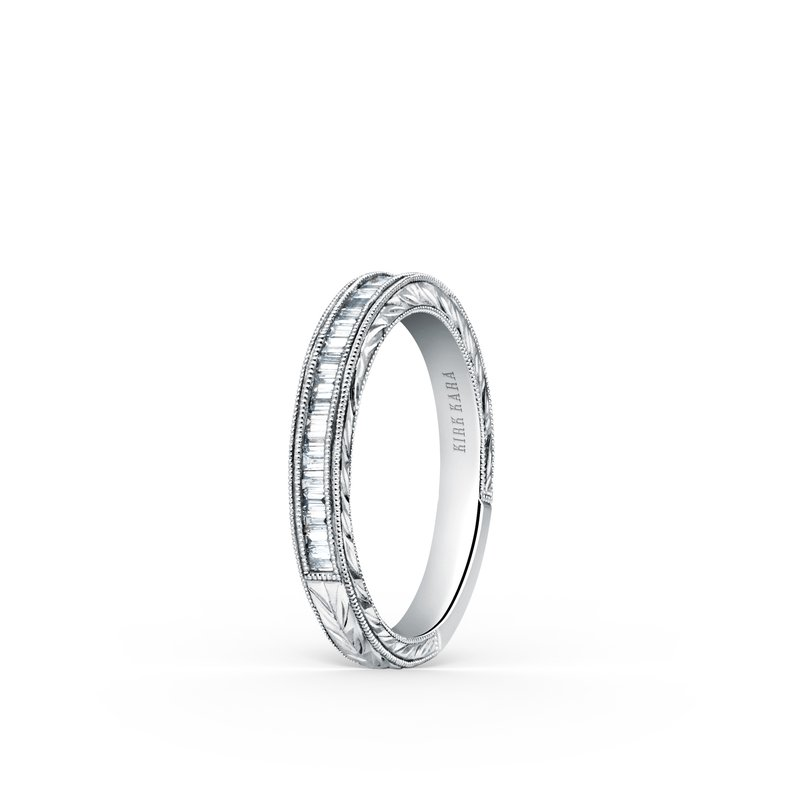 Kirk Kara Channel Set Milgrain Baguette Diamond Wedding Band