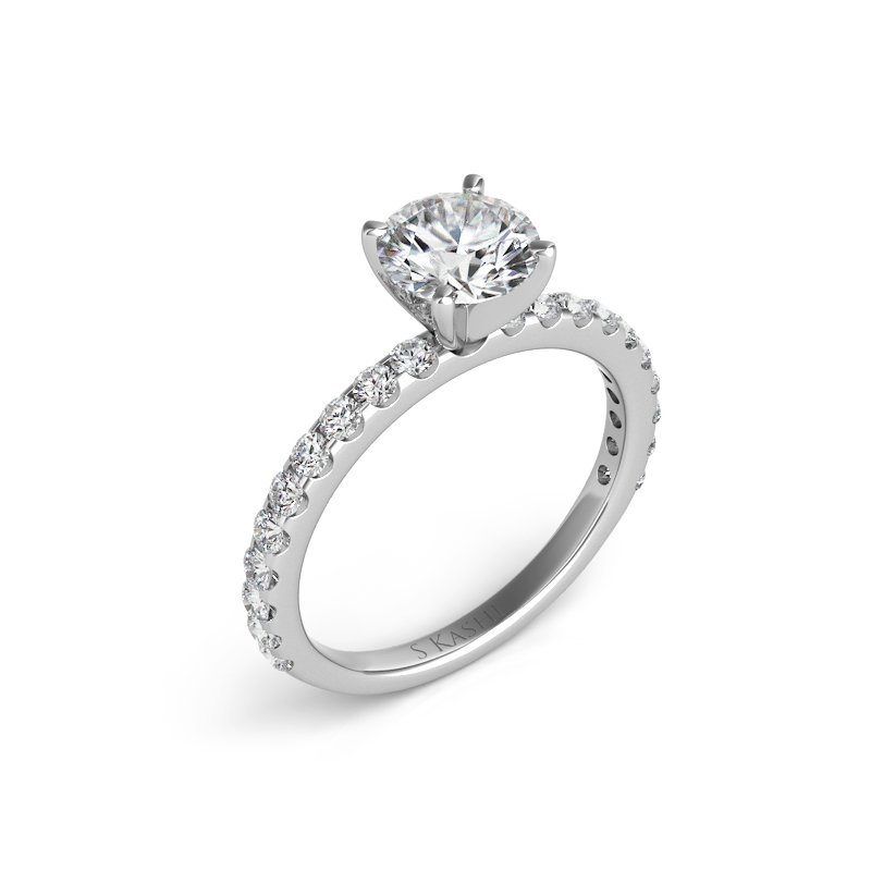 MAZZARESE Bridal White Gold Engagement Ring