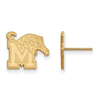 Gold University of Memphis NCAA Earrings