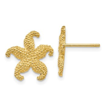 14k Starfish Post Earrings