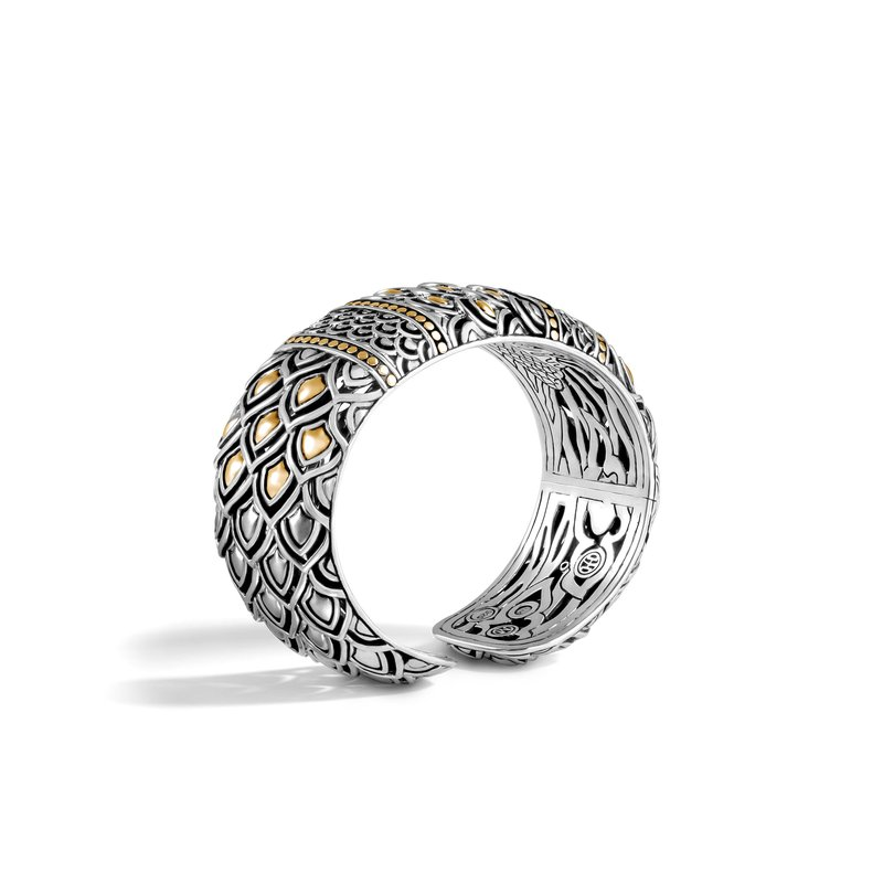 JOHN HARDY Legends Naga 25MM Kick Cuff in Silver and 18K Gold