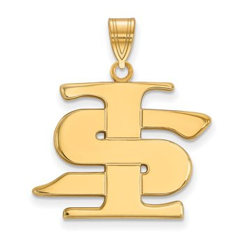 Gold-Plated Sterling Silver Indiana State University NCAA Pendant