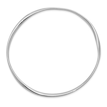 Sterling Silver Rhodium-plated 2.25mm Bangle