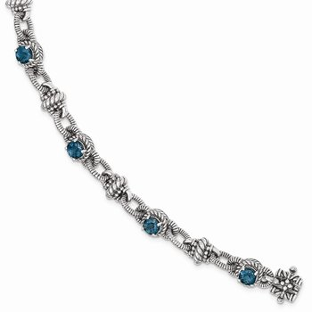 Sterling Silver London Blue Topaz Bracelet