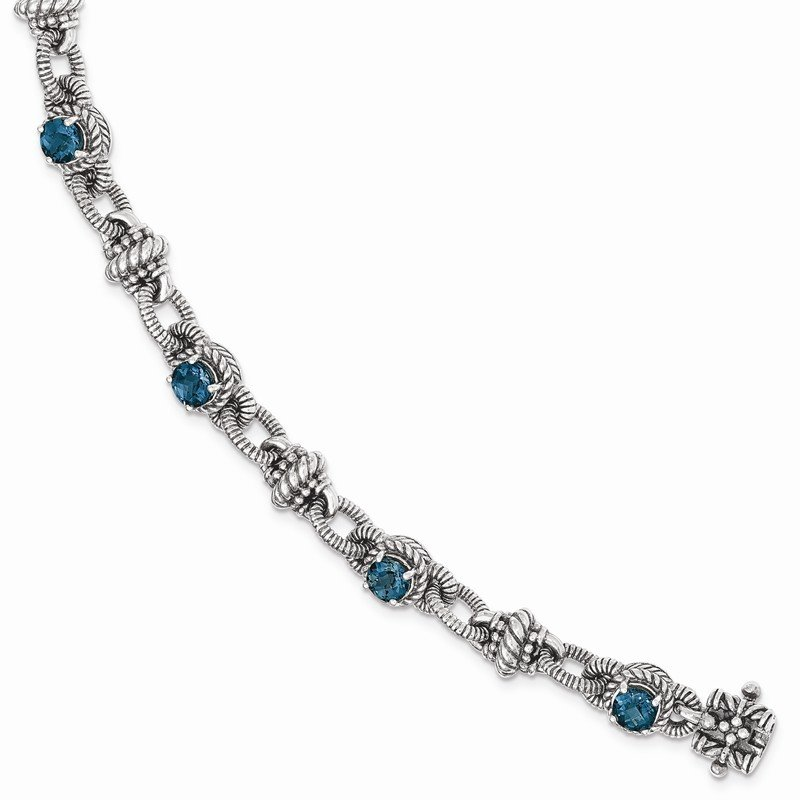 Shey Couture Sterling Silver London Blue Topaz Bracelet